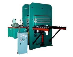 Plate Vulcanizer With Forced Opening Moulds & Automatic Push and Draw Moulds