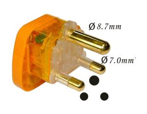 South Africa Plug Adapter (Grounded) (WASvs-10L. O. YL. L)