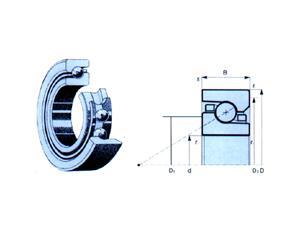 Ball-Screw Thrust Angular-Contact Ball Bearings