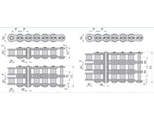 Cotterd Type Short Pitch Precision Roller Chain