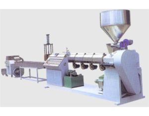 Vented style recycling and mixing color making granular extruder