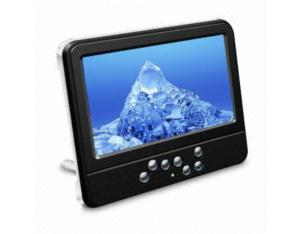 Portable TV with 16: 9 Wide-screen and 7-inch Color TFT-LCD (SH-PTV-001)