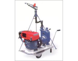 Water sprinkler-diesel set and plastic-coated pressure pipe