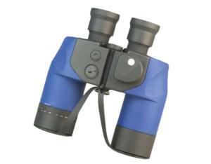 Naval Binoculars With Inter Compass With Range Finder, Pushing Eyecups (N750C-3)