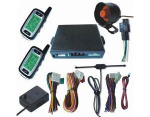 FM Car Alarm System with Remote Engine Start and Arming Reminding Functions