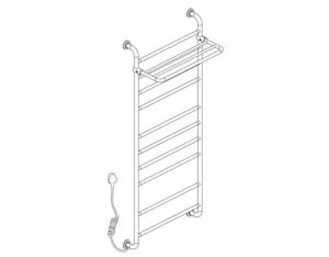 919160B Electrothermal towel rack