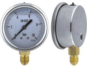 Liquid Filled Pressure Gauge with Stainless Steel Case (MY-SRB-1L063)