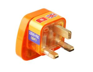 UK, Iraq Grounded Plug Adapter (WASvs-7. O. YL. L)