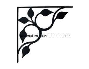 Wrought Iron Leaf Fan Shelf Bracket (YJ4015)