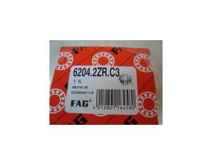 FAG Deep Groove Ball Bearing 6204 2ZR C3