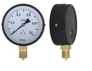 Black Steel Case Pressure Gauge (B-0014)