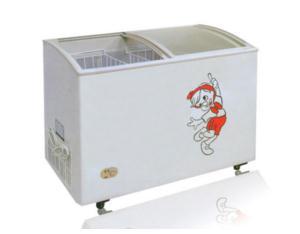 Chest Freezer/Deep Freezer (Curved Glass Door)