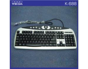 Wired Multimedia Keyboard OEM (K-688)