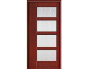 Solid Wood Door (NTA-2P4G)( With Nature Wood Veneer)