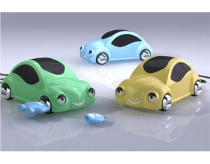 Car-Shaped USB Hub / Support Mobile Recharge
