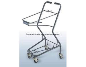 Two-Basket Powder-Coated Japanese Style Model D Shopping Cart (YLD-JB002-1S)