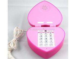 Heart Shape Stylish Mini Wired Telephone, Home Telephone, Children Telephone