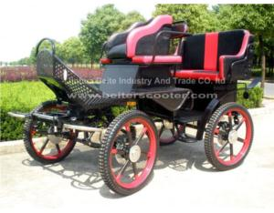 Luxury Horse Carriage With 4 Wheels Brake (BTH-03)