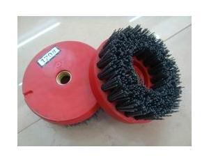 Circle With Screw Abrasive Brush