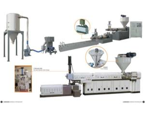 Double-ranks Recycling & Granulating System