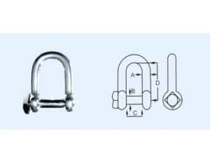Square Head Pin Dee Shackle