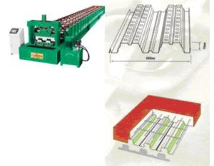 Structure floor roll forming line