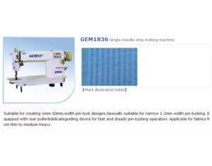 GEM1836 Single-needle strip making machine