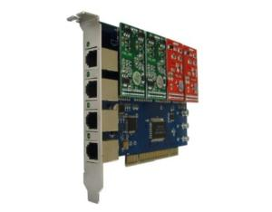 4 Channels/Ports Asterisk PCI Card FXS/FXO (400P)