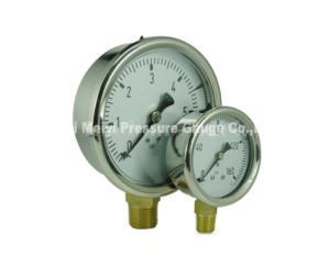 Liquid Filled Pressure Gauge with Stainless Steel Case (MY-LFN-005)