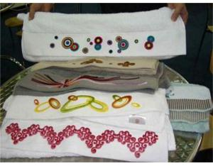 Tufting Embroidery Samples Show