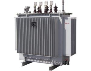 Fully Sealed Three-phase Distribution Transformer with Rolled Iron Core