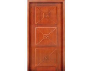 Solid Wood Door (NTA-3BH)( With Nature Wood Veneer)