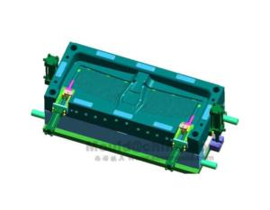 gas aided injection mould