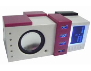 Speaker with USB HUB & Clock