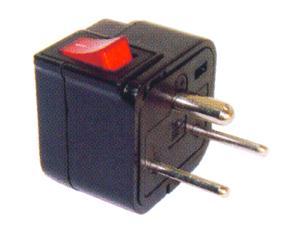 Denmark Plug Adapter (Grounded) (WSA-20. BK)