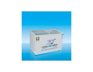 Curved Glass Cover Chest Freezer (338L)