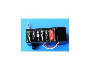 6-Digit Black Plastic Enclosed Electronic Energy Meter Counter