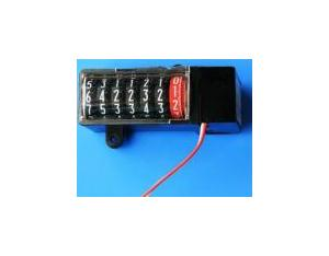 7-Digit Black Plastic Enclosed Electronic Energy Meter Counter