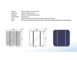 Mono Solar Cell 156*156mm With High Efficiency (YMH- MSC156)