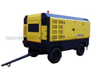 Diesel Engine Movable Screw Air Compressor 250kw 800cfm 21bar