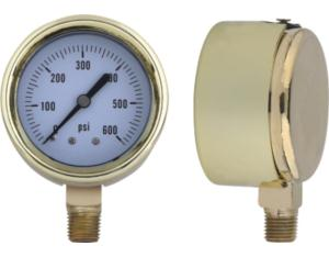 Steel Gold Case Pressure Gauge (MY-CBP-L063)