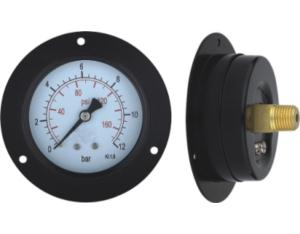 Black Steel Case Pressure Gauge with Flange (MY-BSN-L063)