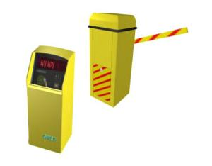 Parking lot IC blocking equipment and toll collector