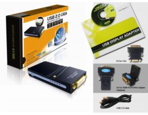 USB 2.0 Display Adapter DVI W/Audio (W721-16M)