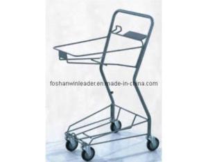 Two-Basket Powder-Coated Japanese Style Model D Shopping Cart (YLD-JB003-1S)