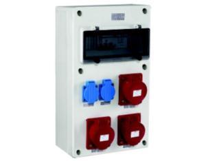 Polycarbonate combination outlet box