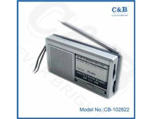 mini radio with antenna and built-in speaker
