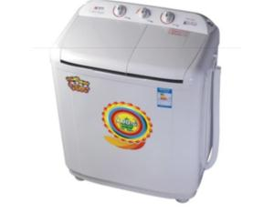 Double barrel move washing machine