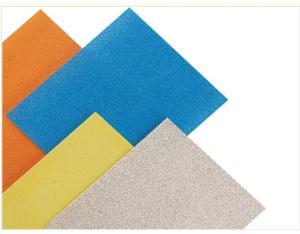 White aluminium oxide abrasive paper sheet