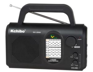 KK-2008 Portable FM(TV1)/MW/SW1-7 8-Band Radio